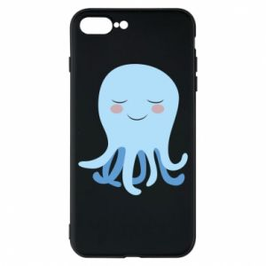 Phone case for iPhone 8 Plus Blue Jellyfish - PrintSalon