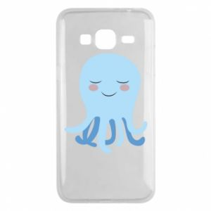Phone case for Samsung J3 2016 Blue Jellyfish - PrintSalon