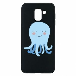 Phone case for Samsung J6 Blue Jellyfish - PrintSalon