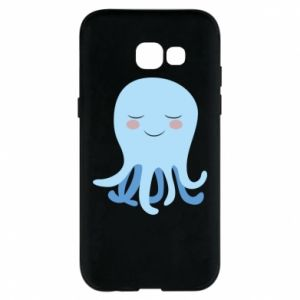 Phone case for Samsung A5 2017 Blue Jellyfish - PrintSalon