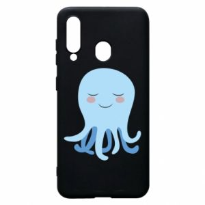 Phone case for Samsung A60 Blue Jellyfish - PrintSalon