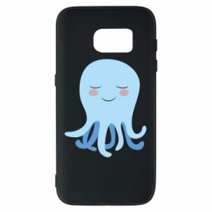 Phone case for Samsung S7 Blue Jellyfish - PrintSalon