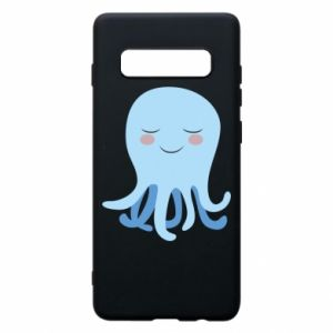 Phone case for Samsung S10+ Blue Jellyfish - PrintSalon