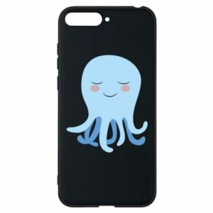Phone case for Huawei Y6 2018 Blue Jellyfish - PrintSalon
