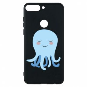 Phone case for Huawei Y7 Prime 2018 Blue Jellyfish - PrintSalon