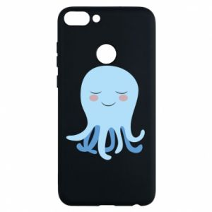 Phone case for Huawei P Smart Blue Jellyfish - PrintSalon