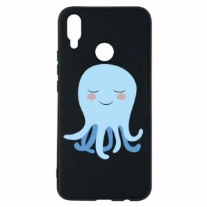 Phone case for Huawei P Smart Plus Blue Jellyfish - PrintSalon