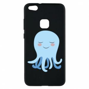 Phone case for Huawei P10 Lite Blue Jellyfish - PrintSalon