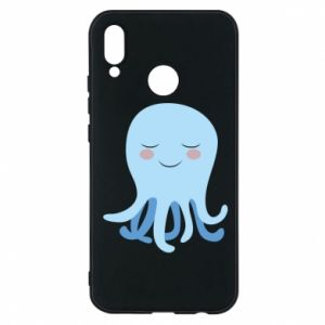 Phone case for Huawei P20 Lite Blue Jellyfish - PrintSalon