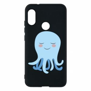 Phone case for Mi A2 Lite Blue Jellyfish - PrintSalon