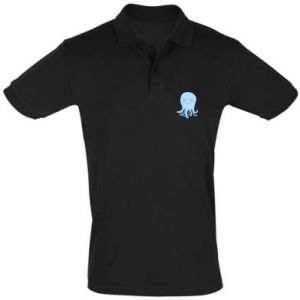 Men's Polo shirt Blue Jellyfish - PrintSalon