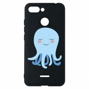 Phone case for Xiaomi Redmi 6 Blue Jellyfish - PrintSalon
