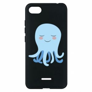 Phone case for Xiaomi Redmi 6A Blue Jellyfish - PrintSalon