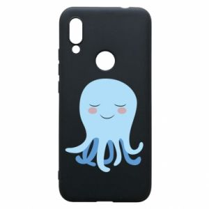 Phone case for Xiaomi Redmi 7 Blue Jellyfish - PrintSalon