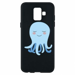 Phone case for Samsung A6 2018 Blue Jellyfish - PrintSalon