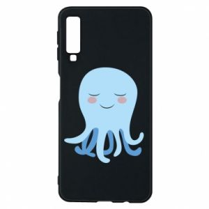Phone case for Samsung A7 2018 Blue Jellyfish - PrintSalon