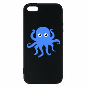 Phone case for iPhone 5/5S/SE Blue octopus - PrintSalon