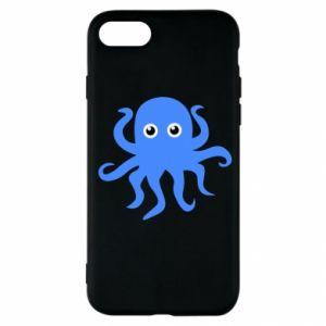 Etui na iPhone SE 2020 Blue octopus