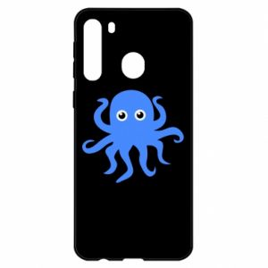 Etui na Samsung A21 Blue octopus