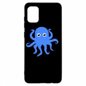 Etui na Samsung A31 Blue octopus