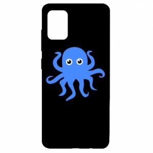 Etui na Samsung A51 Blue octopus
