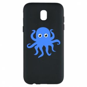 Phone case for Samsung J5 2017 Blue octopus - PrintSalon