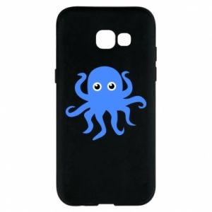 Phone case for Samsung A5 2017 Blue octopus - PrintSalon