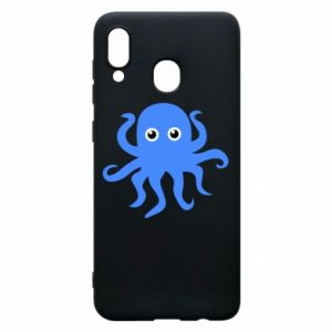 Phone case for Samsung A20 Blue octopus - PrintSalon