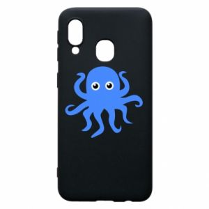 Phone case for Samsung A40 Blue octopus - PrintSalon