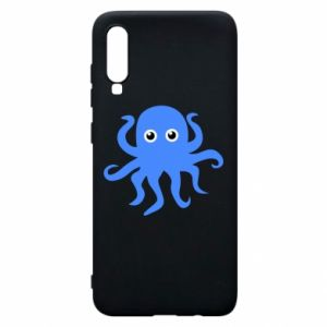 Phone case for Samsung A70 Blue octopus - PrintSalon