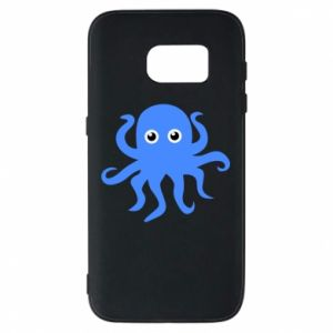 Phone case for Samsung S7 Blue octopus - PrintSalon