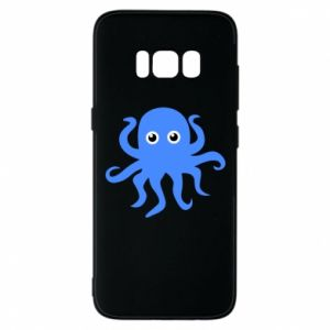 Phone case for Samsung S8 Blue octopus - PrintSalon