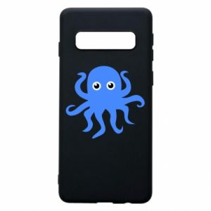 Phone case for Samsung S10 Blue octopus - PrintSalon