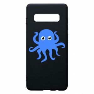 Phone case for Samsung S10+ Blue octopus - PrintSalon