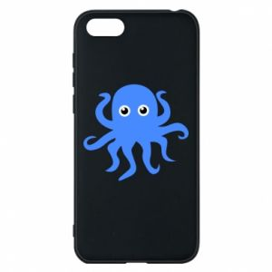 Phone case for Huawei Y5 2018 Blue octopus - PrintSalon