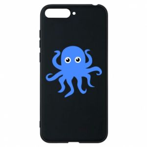 Phone case for Huawei Y6 2018 Blue octopus - PrintSalon