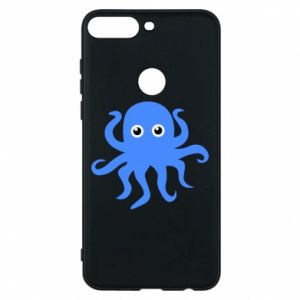 Phone case for Huawei Y7 Prime 2018 Blue octopus - PrintSalon