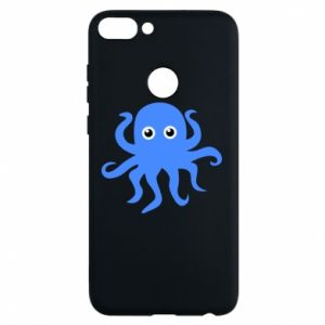 Phone case for Huawei P Smart Blue octopus - PrintSalon
