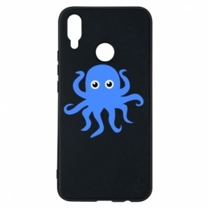 Phone case for Huawei P Smart Plus Blue octopus - PrintSalon