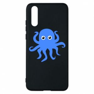 Phone case for Huawei P20 Blue octopus - PrintSalon