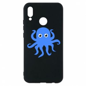 Phone case for Huawei P20 Lite Blue octopus - PrintSalon