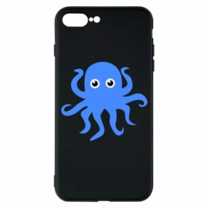 Phone case for iPhone 7 Plus Blue octopus - PrintSalon