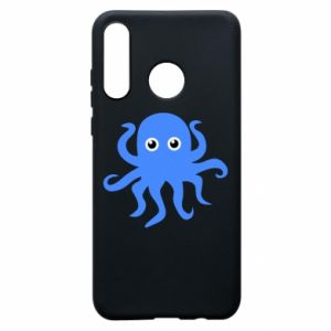 Phone case for Huawei P30 Lite Blue octopus - PrintSalon