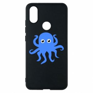 Phone case for Xiaomi Mi A2 Blue octopus - PrintSalon