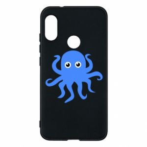 Phone case for Mi A2 Lite Blue octopus - PrintSalon