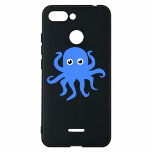 Phone case for Xiaomi Redmi 6 Blue octopus - PrintSalon