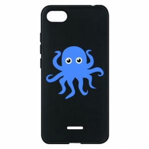 Phone case for Xiaomi Redmi 6A Blue octopus - PrintSalon