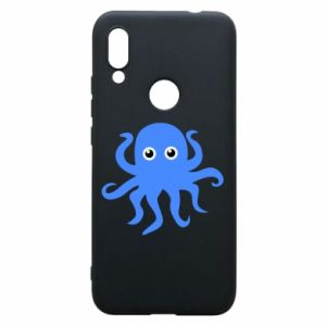 Phone case for Xiaomi Redmi 7 Blue octopus - PrintSalon