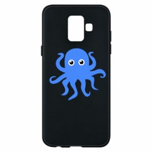 Phone case for Samsung A6 2018 Blue octopus - PrintSalon