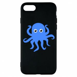 Phone case for iPhone 8 Blue octopus - PrintSalon